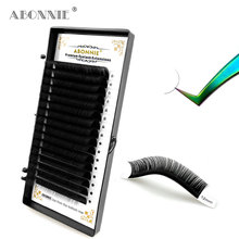 Abonnie 16Lines Individual Eyelashes Extension Faux Mink Lashes Tray Russian Volume False Eyelashes 8-15mm C/D Curl