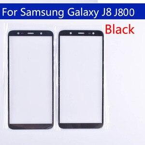 Image 2 - 10Pcs Voor Galaxy J8 2018 J810 J810F J810DS On8 Touch Scherm Front Outer Glas Voor J8 2018 J800 Touchscreen lens Voor J8 Plus J805