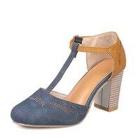 Sandalias de tacón alto para mujer, zapatos con aumento superior de PU Artificial, de verano