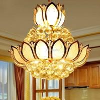 Crystal lamp lotus Pedant Lamp restaurant chandelier LED crystal chandelier factory direct lighting