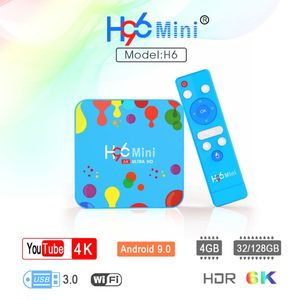 Image 2 - 1Set 4GB 32/128GB H96 Mini for Android 9.0 Smart TV Box H6 Quad Core 6K Wifi Multi Language HD Player Set Top Box