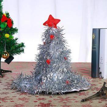 2021New choinka kapelusz świąteczny kapelusz dla św Mikołaja czerwona i biała bluzka na kostium świętego mikołaja czerwone zielone srebrne tanie i dobre opinie ZUCZUG CN (pochodzenie) Dla osób dorosłych Tkanina nietekstylna