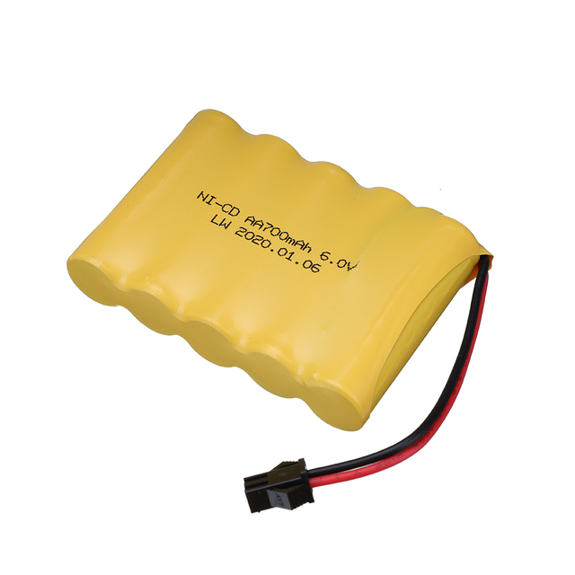6v 700mah AA NI-CD Battery with charger High capacity electric toy battery Remote car ship robot rechargeable 6 v 700 mah