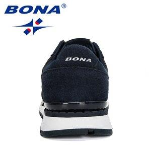 Image 2 - بونا 2020 جلد الغزال الرجال احذية الجري Zapatillas Hombre Deportiva رجل الدانتيل متابعة الركض أحذية رياضية الرجال أحذية رياضية مريحة