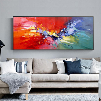 100% Hand Painted Abstract Color Art Oil Painting On Canvas Wall Art Frameless Picture Decoration For Living Room Home Deco Gift