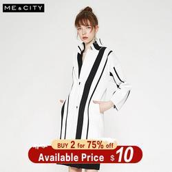 Me & city, вязаный кардиган, свитер для женщин, 2019, осень, зима, уличная одежда в полоску, Модный Кардиган для офисных леди
