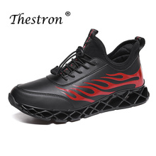 Man Casual Shoes Spring Autumn Mens Split Leather Shoes Light Black White Classic Male Footwear Elastic Band Walking Shoes spring autumn 2018 breathable thick platform man shoes genuine leather mens footwear white casual male shoes plus size us 6 9 5