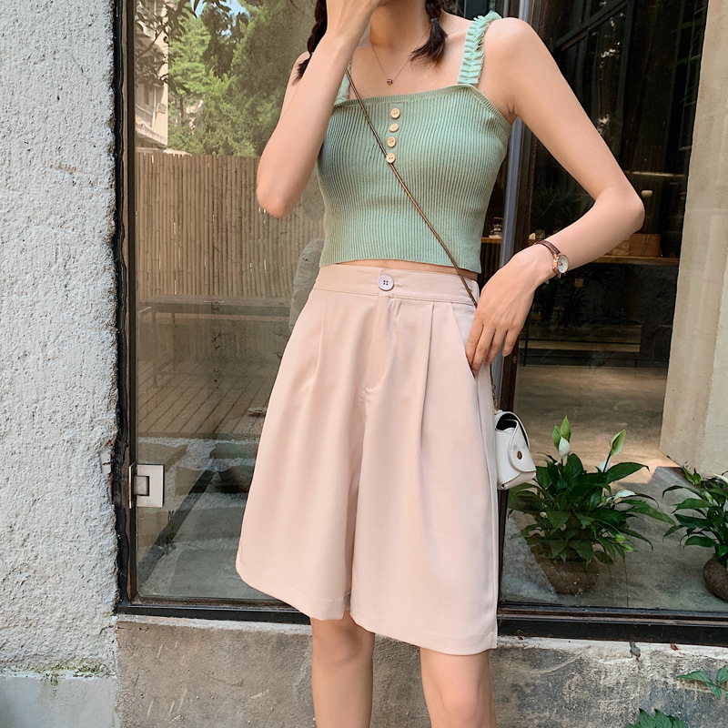 LXS22 2020 Summer New Slimming Casual Wild Wide Leg Shorts
