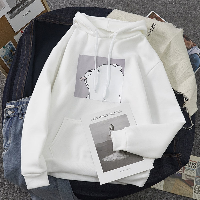 Hoodies oversized print Kangaroo Pocket Sweatshirts Hooded Harajuku Spring Casual Vintage Korean Pullovers Women sweetshirts 12