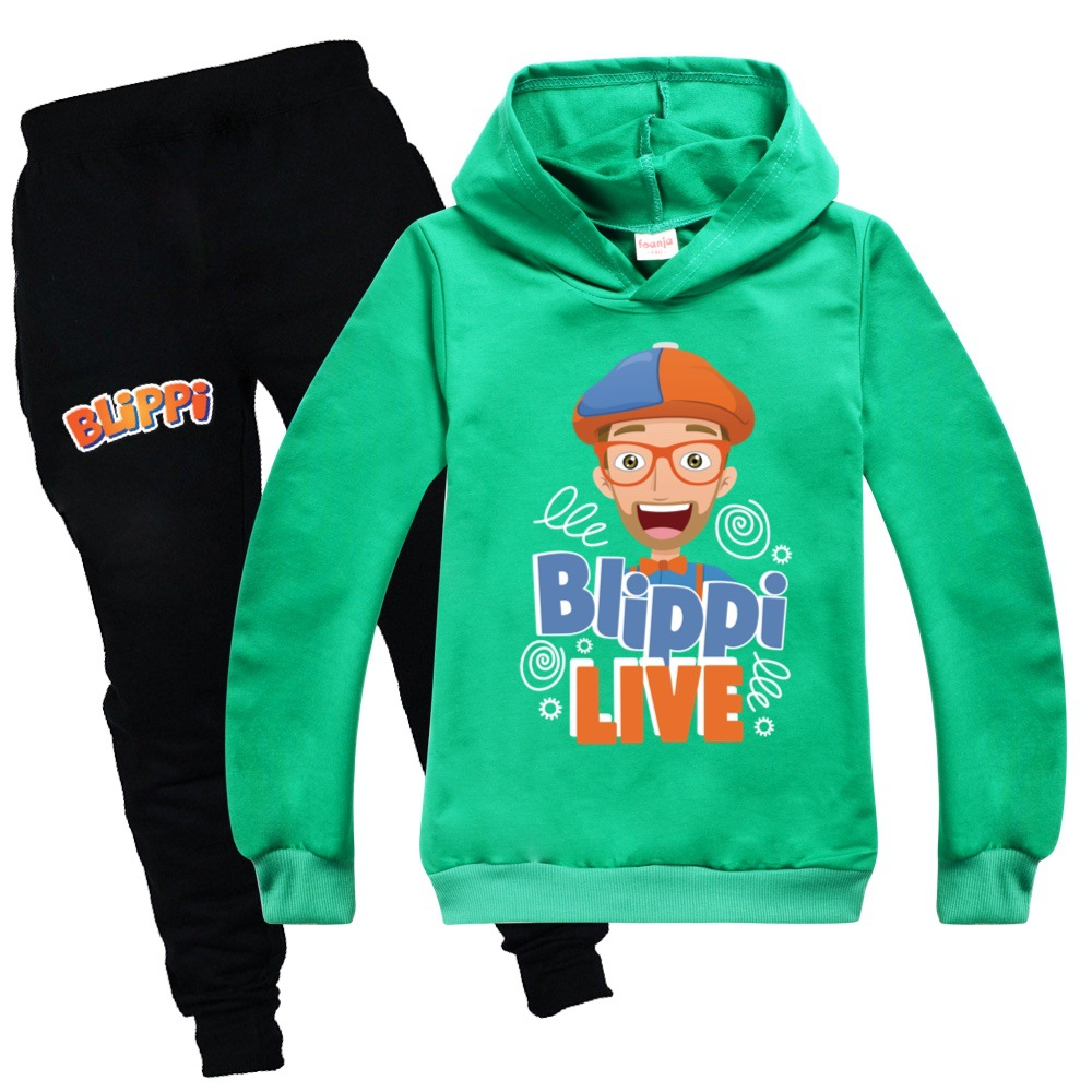 New Hot Sale BLIPPI Hoodies Suit Boys Girls Cotton Pullover Hoodies Pants Cartoon Casual Sweatshirt Sportswear Tops for Children 3