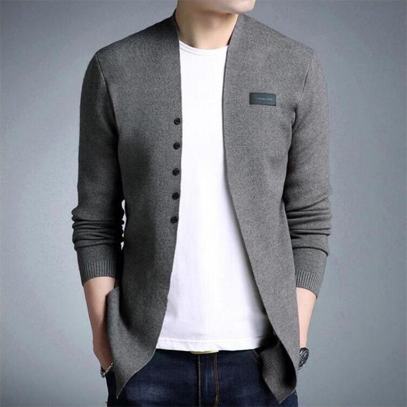 Men's Knit Sweater Solid Sweater Slim Handsome Long Sleeve Men's Jacket Plus Size Sweater Sweaters For Men