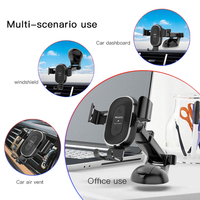 car air outlet Car Wireless Charger Mobile Phone Bracket Suction Cup Telescopic Car Cell Phone Navigation Bracket Air Outlet Charging Bracket (4)
