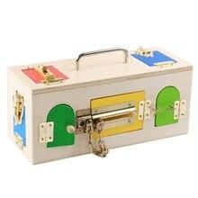 Новые деревянные детские игрушки Монтессори красочная коробка