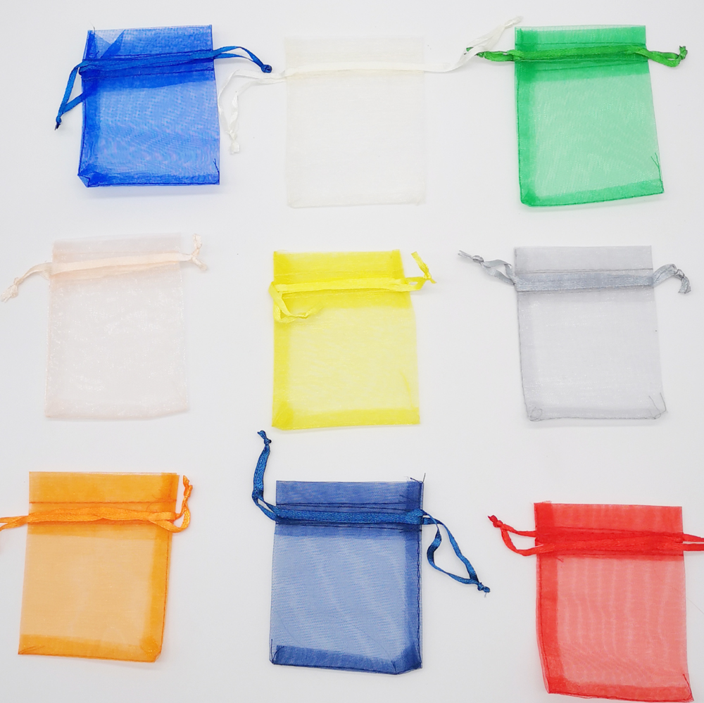 50pcs Organza Jewellery Bag Pouches 5x7cm Jewelry Packaging Display Drawstring Organza Bags Packaging For Jewelry Pouches Bag