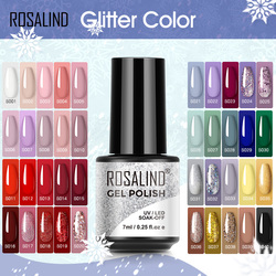 ROSALIND 7ML Gel Polish Glitter Nail Polish All For Nails Manicure Nails Art Base Top Coat UV Semi Permanent Gel Varnishes