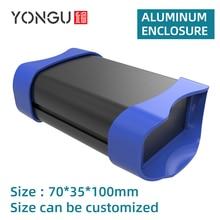 Electric Housing Customization Silkscreen Fabrication DIY Amplifier Aluminum Enclosure Brushed Box K01B 70*35mm