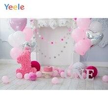 Yeele 1st 誕生日 Photozone 風船ボールケーキ写真撮影の背景パーソナライズ写真写真スタジオの背景