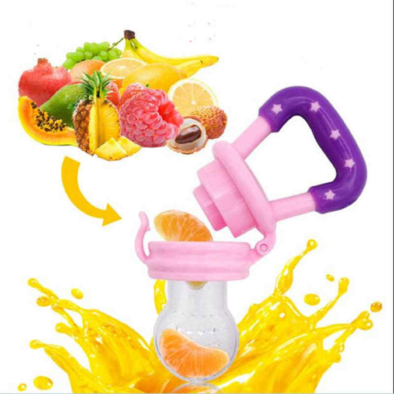 1× Sicher Baby Beißring Silikon Schnuller Frisch Obst Essen Milch Kinder Nippel