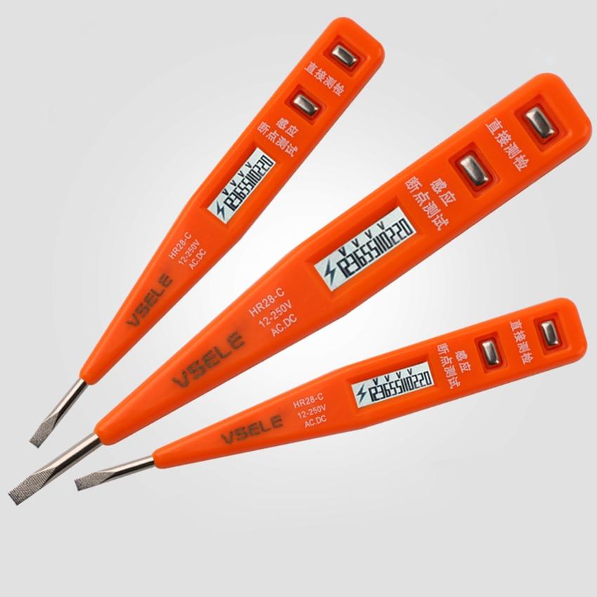 1pc Socket Wall AC Power Outlet Voltage Detector Sensor Tester Electric Test Pen LED Light Voltage Indicator