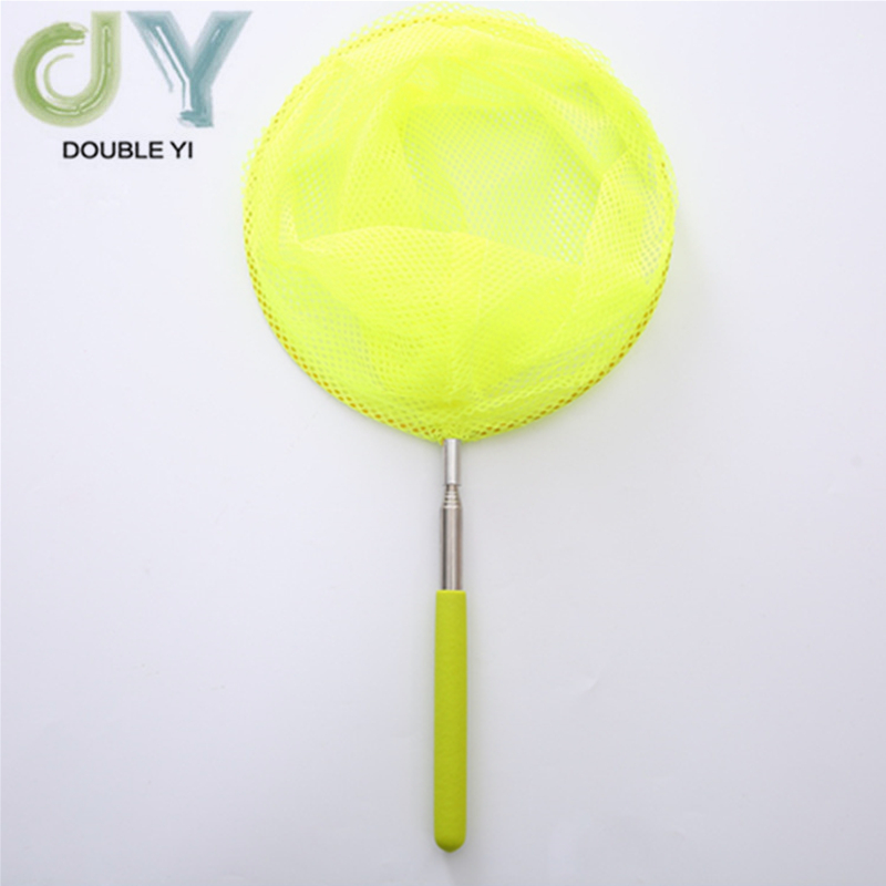2pcs/pack Yellow Stainless Steel Telescopic Nets Insect Nets Butterfly Children Nets Bamboo Nets Fish Protection