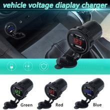 4.2A Dual USB Car Charger With Voltage Digital Display