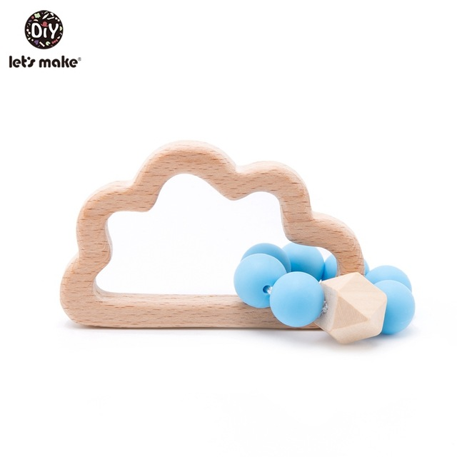 Wooden Blue Cloud Teether