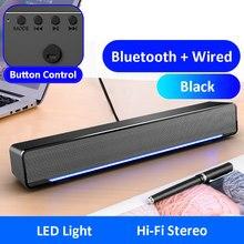 Led soundbar tv bluetooth alto-falante barra de som para computador altavoces alto-falantes casa cinema