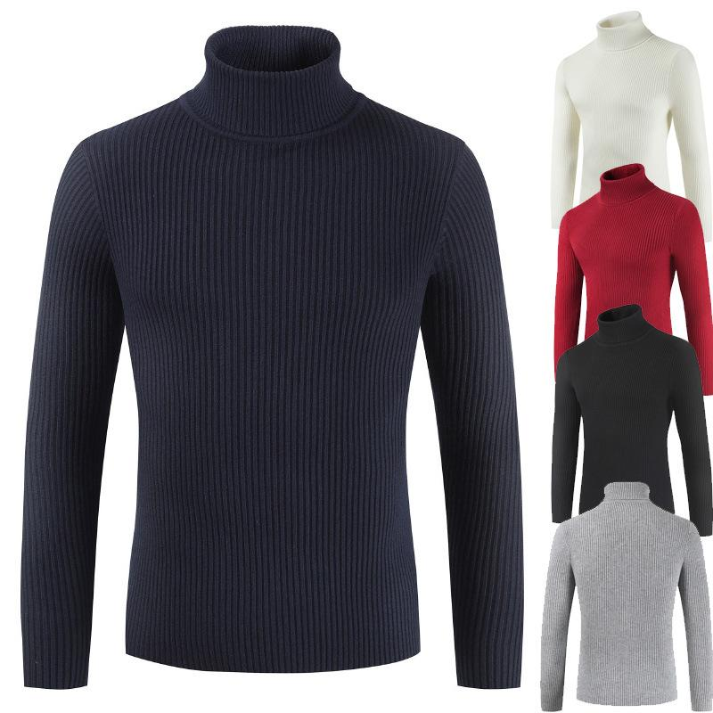 New-coming Autumn Winter Pull Homme Hiver Turtleneck Pullovers Sweater Primer Shirt Long Sleeve Sweater водолазка мужская