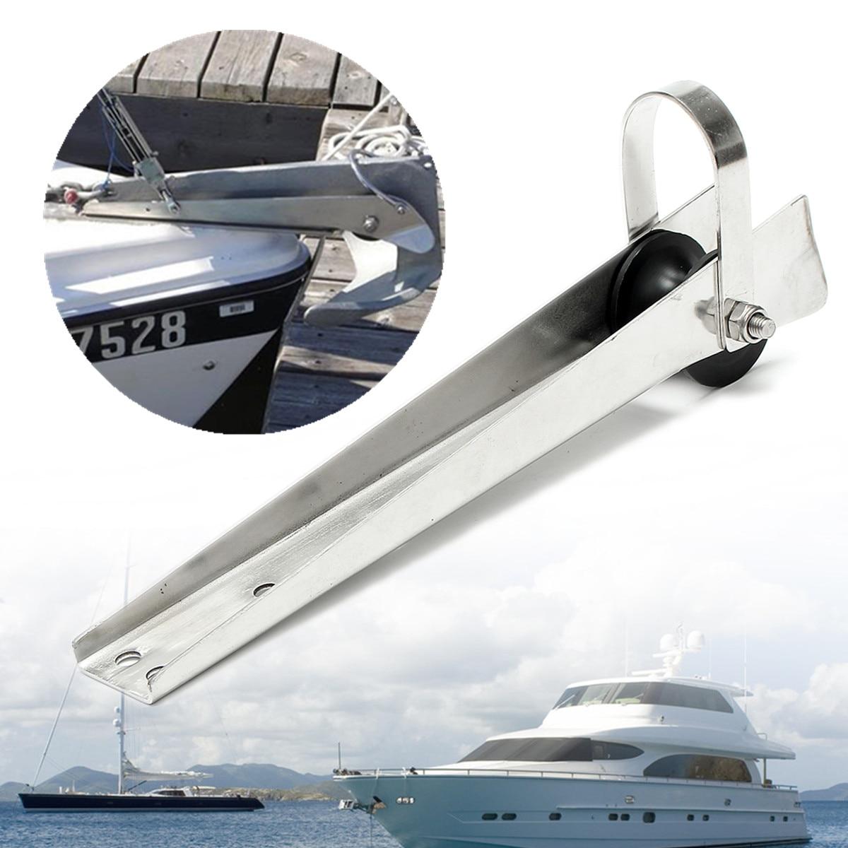 FreeTec acero inoxidable 316 rodillo de ancla de proa rodillo de cadena de rodillo de ancla de barco con perno de resorte