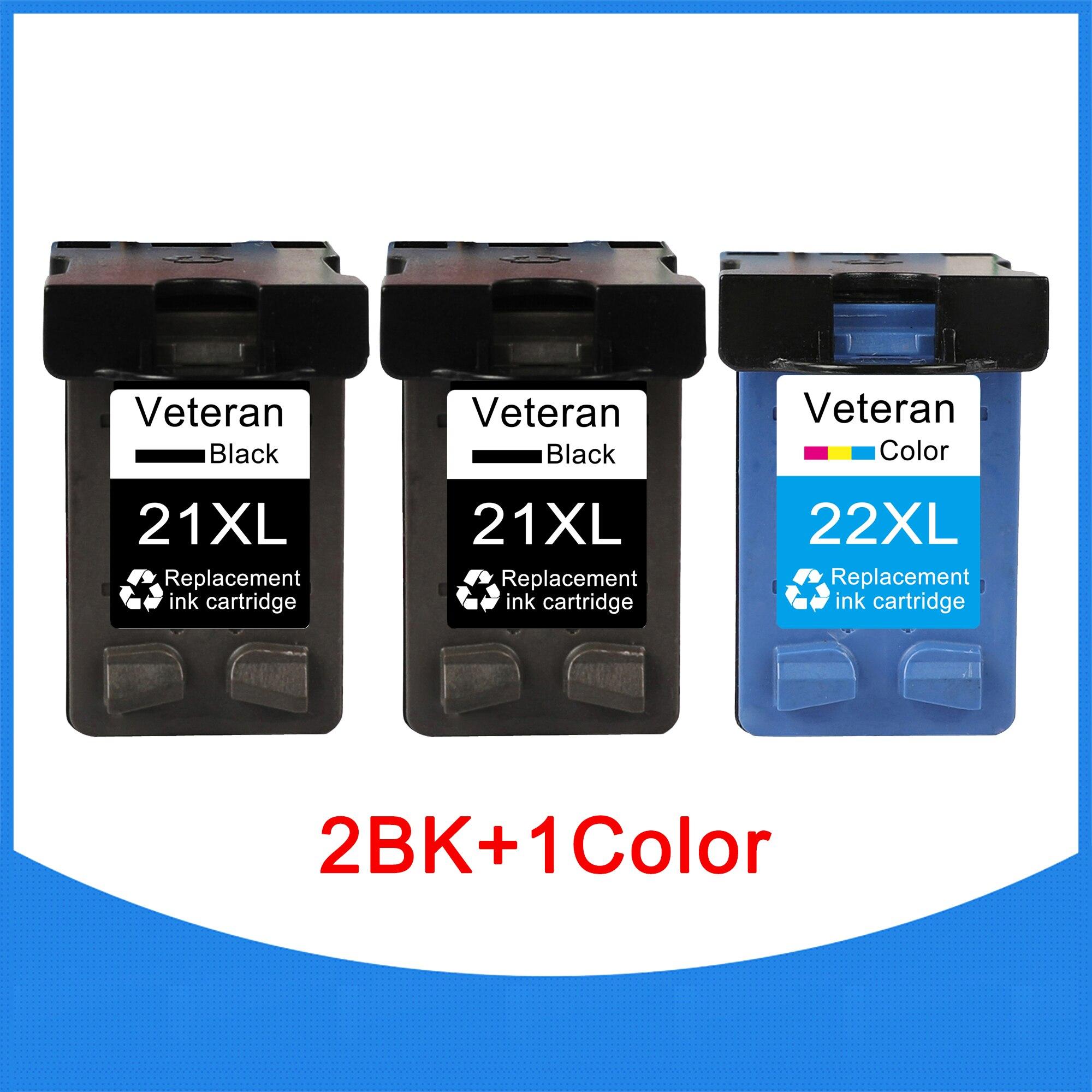 Картридж Veteran 21 22 для hp 21xl для hp21 hp22, чернильный картридж для принтера Deskjet F2180 F4180 F2200 F2280 F300 F380 380 D2300