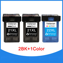 Veteraan 21 22 Cartridge Voor Hp 21xl Voor Hp21 Hp22 Inktcartridge Voor Deskjet F2180 F4180 F2200 F2280 F300 F380 380 d2300 Printer(China)