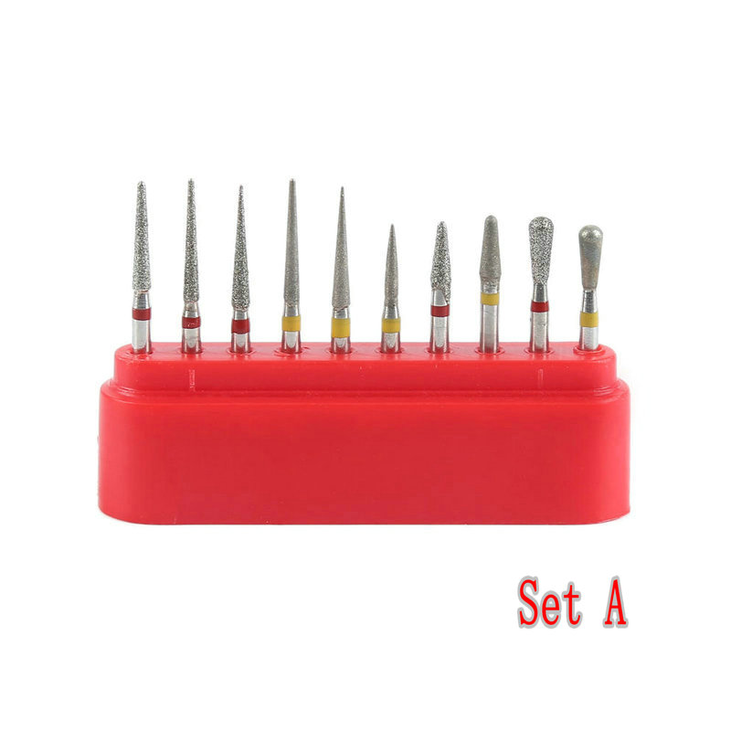 Dental Diamond Burs Drill Kit 1.6mm For High Speed Handpiece Polishing