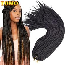 """TOMO, 22 корня/упаковка, коробка, косички, вязанные волосы, 1"""", 18"""", 2"""", Омбре, синтетические косички, наращивание волос для женщин, красные, вязанные косички"""