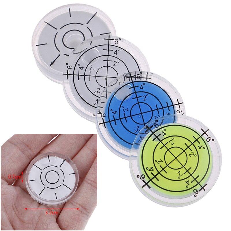 1Pc 32*7mm Spirit Bubble Degree Mark Surface Level Round Circular Measuring Meter