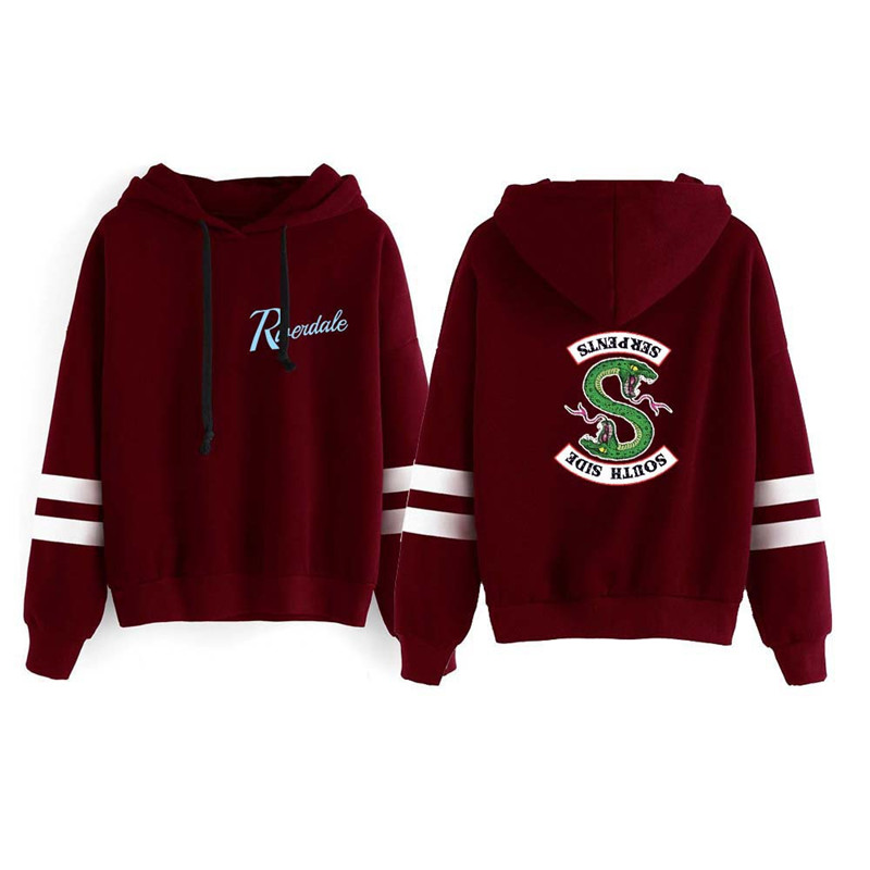 Riverdale Southside Serpents Hoodies Sweatshirts MenS Women South Side Serpents Hoodie Long Sleeve Striped Pullover Top Oversize 18