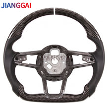 Car Steering Wheel 100% Carbon Fiber Perforated Leather Suitable For Audi RS TT 2020 Models