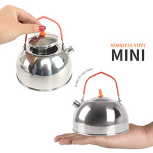 Portable Camping Kettle 0.6L Camping Pot Compact Lightweight Tea Coffee Kettle for Camping Hiking Picnic BBQ(China)