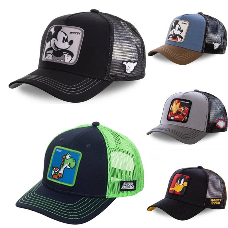New Brand 62 Styles Mickey DONALD Duck Snapback Baseball Cap Men Women Hip Hop Dad Mesh Hat Trucker Hat Dropshipping