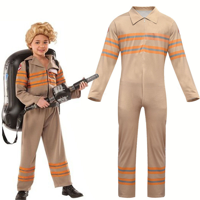 Stranger Things 2 Kid Children Ghostbusters Jumpsuit Cosplay Uniform Halloween Purim Carnival Cosplay
