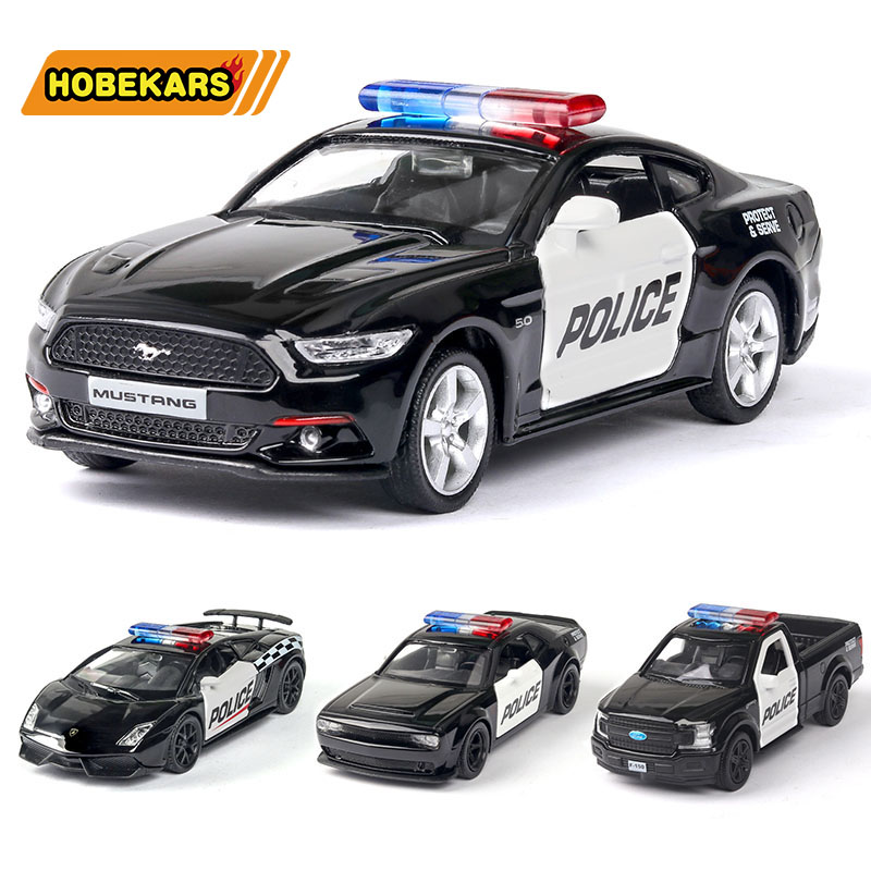 Model Car 1:36 Police Car Series Diecasts & Toy Vehicles Metal Alloy Simulation Pull Back Cars Toys For Kids Gifts For Children