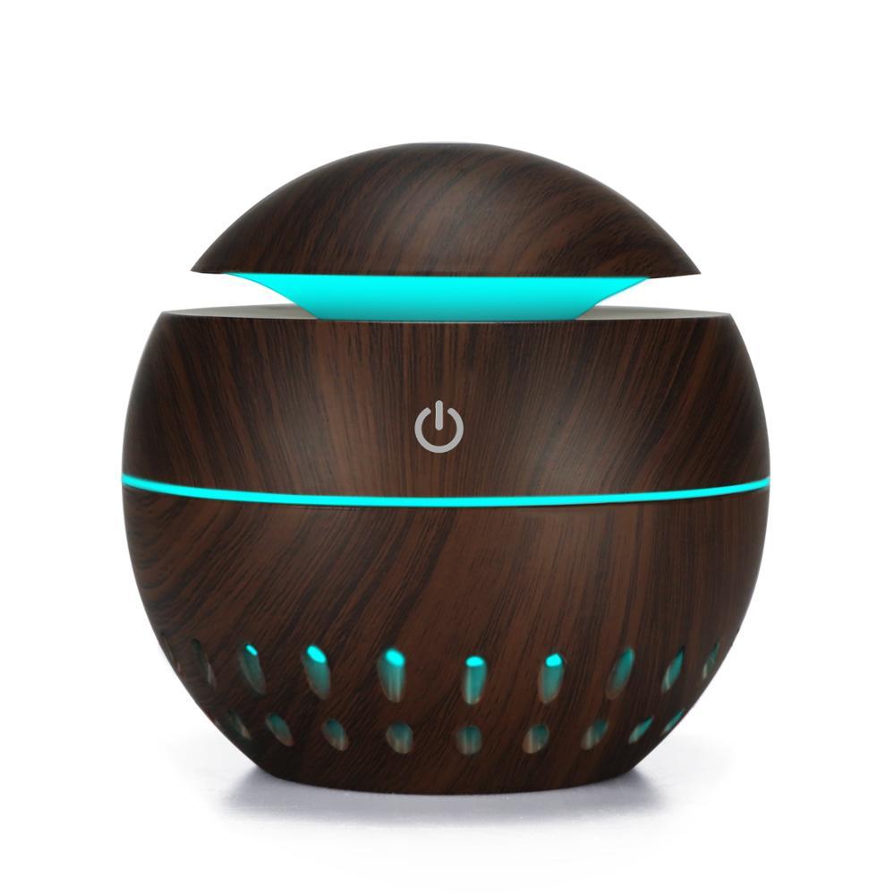 Тумана USB Арома диффузор ультразвуковой холодный туман увлажнитель воздуха очиститель с 7 цветов светодиодный ночник для офиса дома