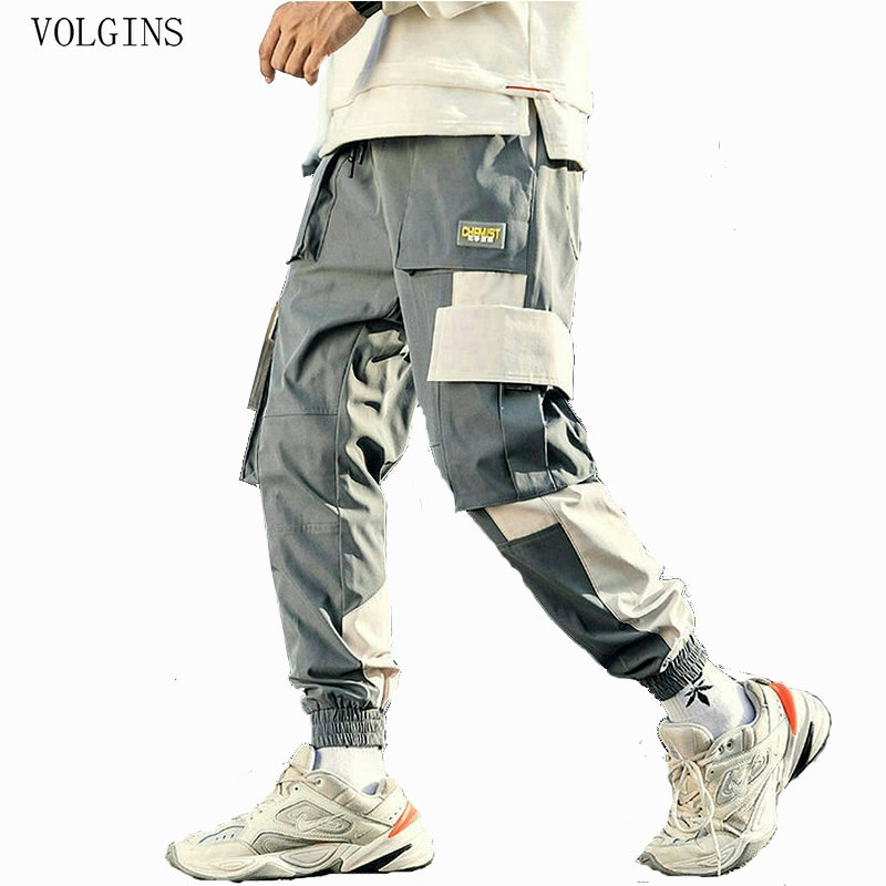Streetwear Pockets 2020 Men's Jogger Pants Hip Hop Sweatpants Joggers Trousers Tactical Mens Pants Cargo Harem Pants Men