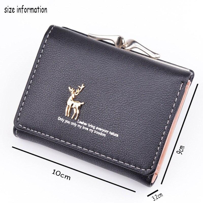 Cartoon-Ladies-Purses-Wallet-Women-Leather-Cute-Folding-Women-Wallets-Pocket-Clutch-Card-Holder-Girls-Deer