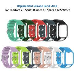 Силиконовый сменный ремешок для наручных часов TomTom Runner 2 3 Spark 3 GPS TPE ремешок Жесткий ПК держатель для Tom 2 3 серии