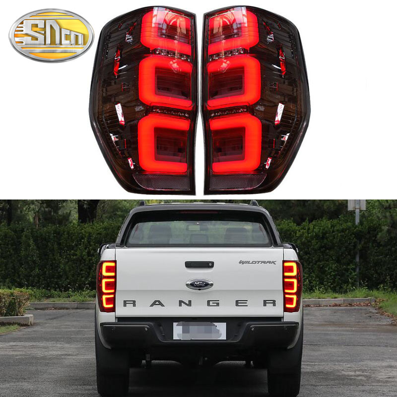 Автомобильный светодиодный задний фонарь для Ford Ranger 2,2 3,2 2015 2019 задний фонарь для вождения + стоп сигнал + задний фонарь + указатель поворота