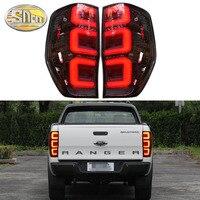 Car LED Tail Light Taillight For Ford Ranger 2.2 3.2 2015 2019 Rear Driving Lamp + Brake Light + Reverse Light + Turn Signal