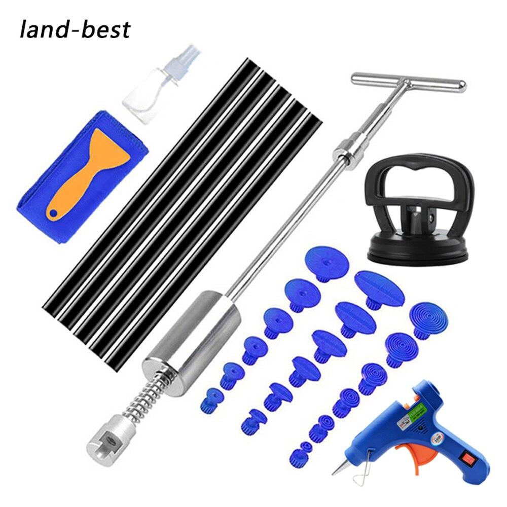 Автомобильный набор для беспокрасочного ремонта вмятин Land-Best, набор инструментов для удаления вмятин, набор для удаления вмятин, скользящи...
