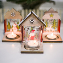 Candlestick Decoration Christmas House Candle Holder Decorations Crafts Glass For Party Night Table Room Decor