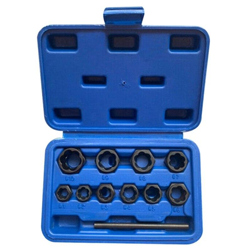 11Pcs Daed Lug Nut and Lock Remover Twist Socket Set Screw Extractor Tools| |   - AliExpress