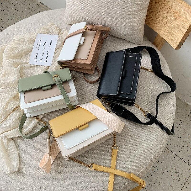 Image 2 - Brand Leather Crossbody Bags For Women 2020 Chain Shoulder  Messenger Bag Lady Travel Purses Mini Handbags Cross Body Bag  FashionShoulder Bags
